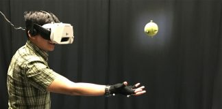 Catching a ball while wearing full VR gear