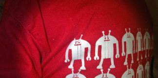 tshirt with evil android picture printed